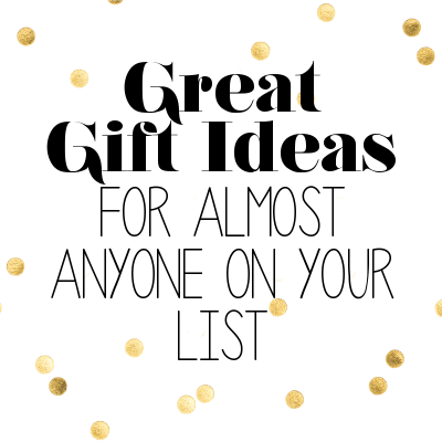 Skip the Gift Card... Give a Great Gift Instead! {Great list of gifts for almost anyone on your list!}