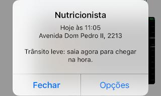 Alerta de calendário - Siri