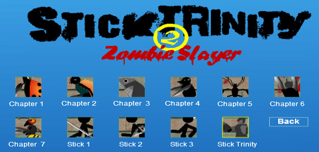 Flash Game, Stick Trinity 2 Zombie Slayer