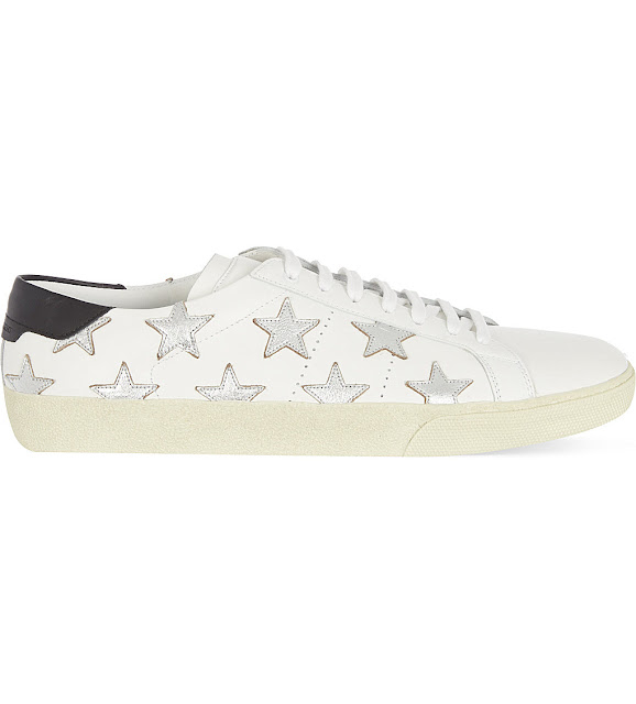 saint laurent star trainers, ysl star trainers, white star trainers,