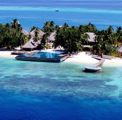 Hotel Huvafen Fushi en las Islas Maldivas (Vacaciones)