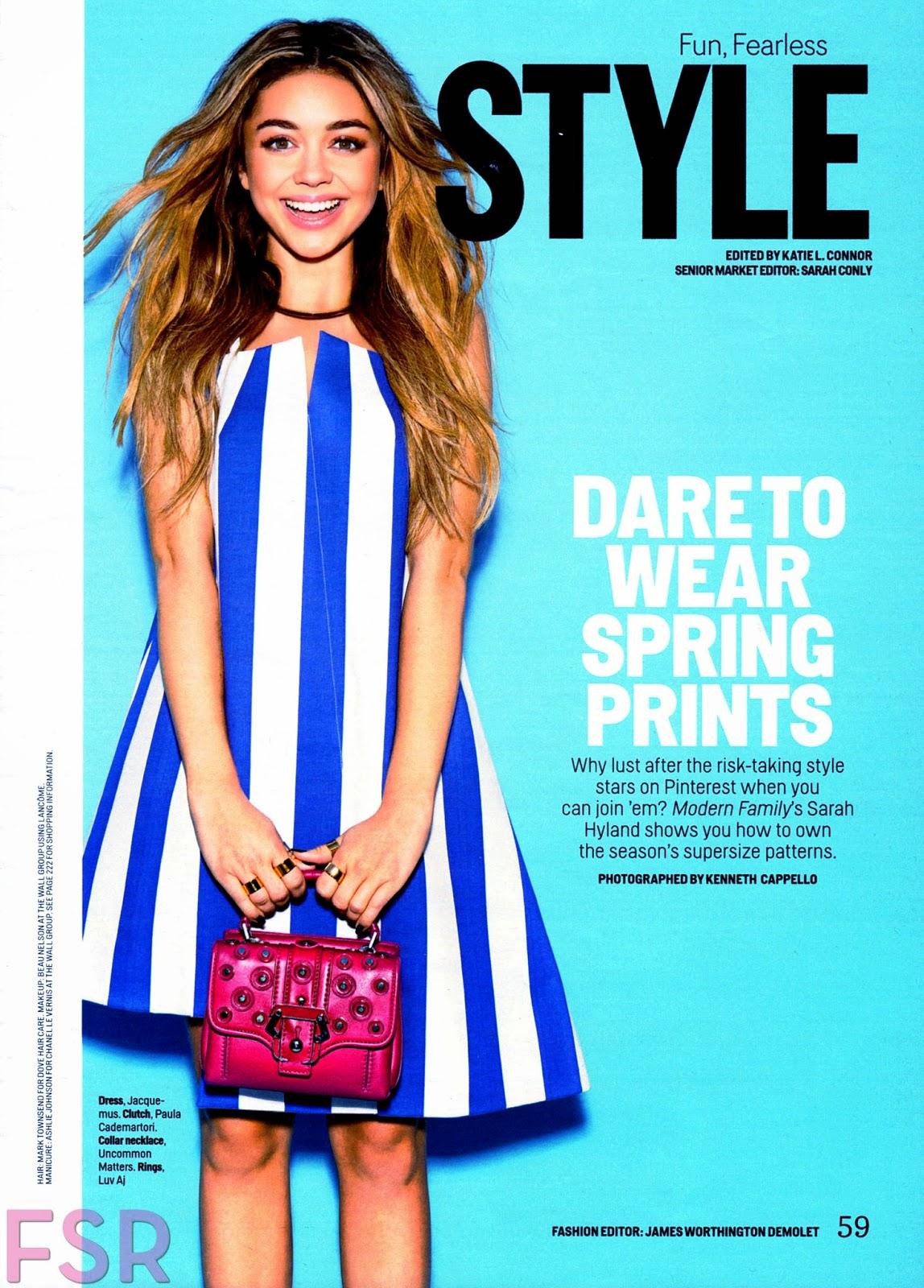Actress: Sarah Hyland for Cosmopolitan magazine