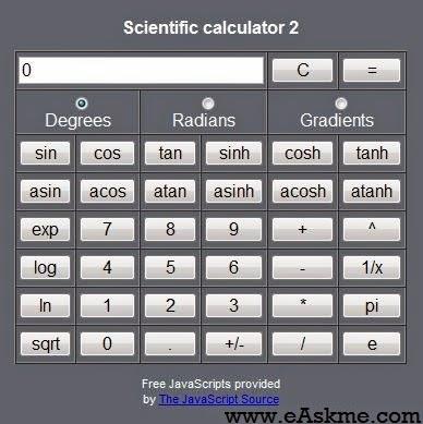 calculator for free : eAskme