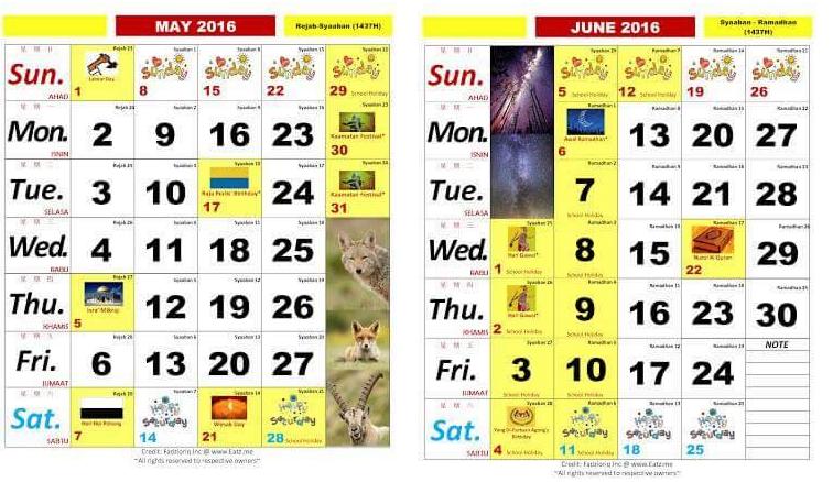 ... isnin januari dan februari 2016 mac dan april 2016 mei dan jun 2016