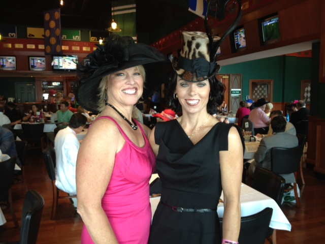 95027c1d1fc3 Stacy kindly sent me this photo of her glamorous self wearing a 'Viola'  mini top hat in leopard, at the Kentucky Derby this May.