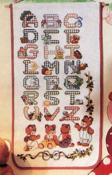 Le chiacchere di simo ricamo maglia uncinetto e for Ricamo punto croce alfabeto