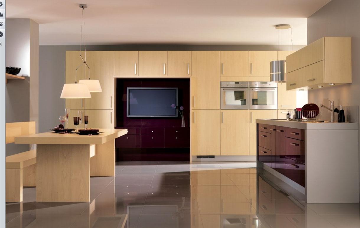 Home interior design decor 23 very beautiful french kitchens - Kitchen tv ideas ...