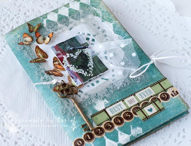 свадебная открытка с бабочками