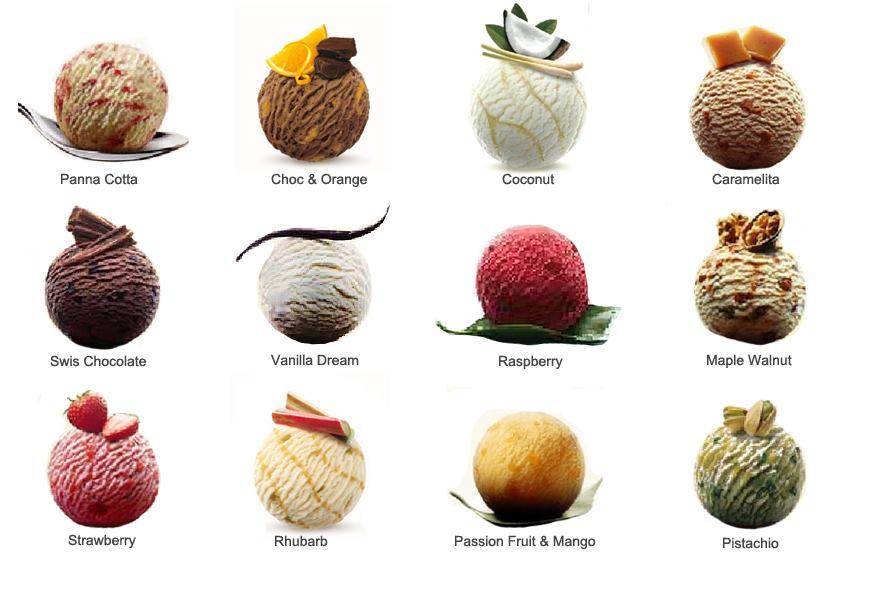 Different Flavours of ice creams