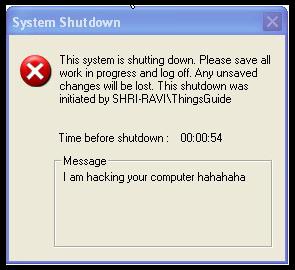 Fake forced shutdown