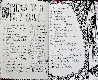 50 things, lists, gratitude