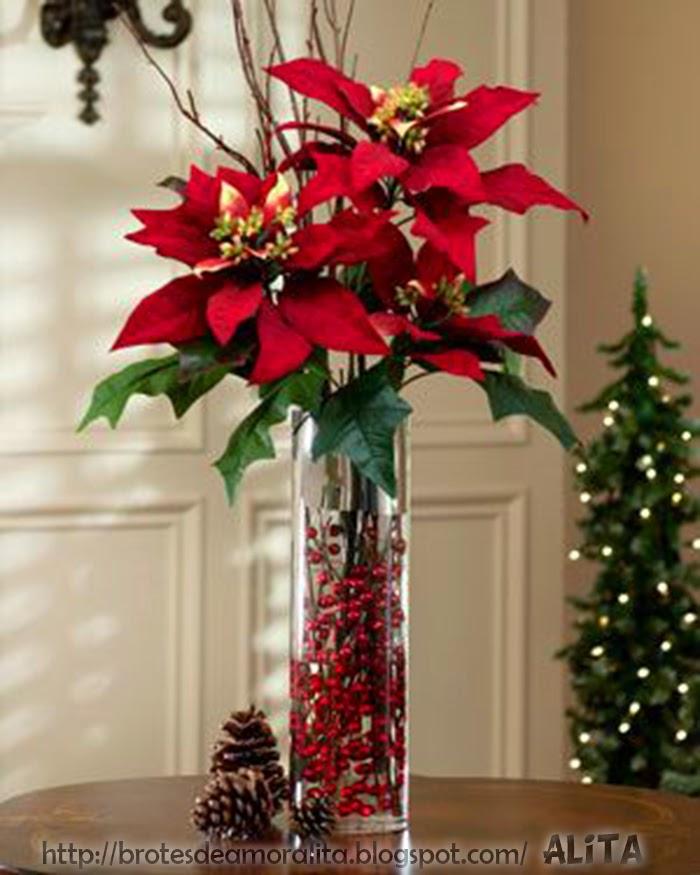 Brotes de amor arreglos navide os - Arreglos navidenos para mesa ...