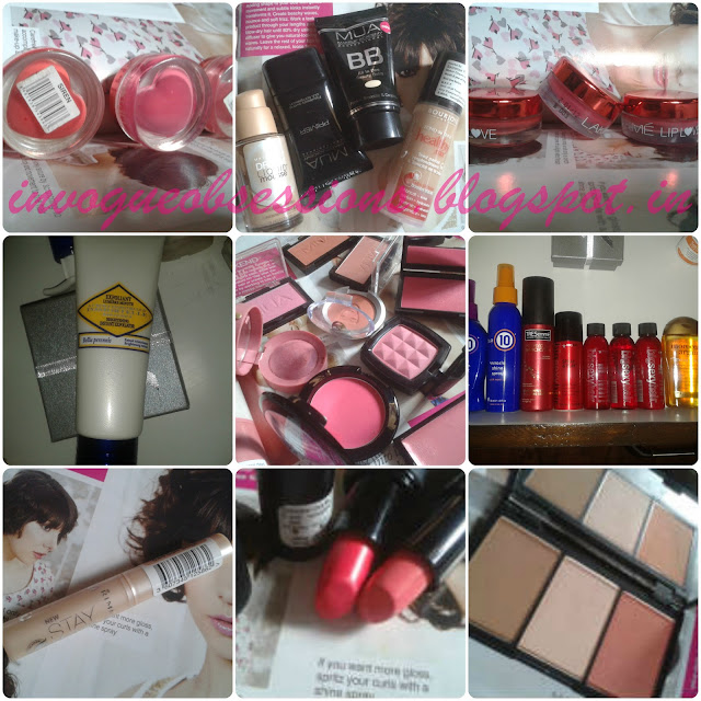 MUA BB Cream, Bourjois Healthy Mix Foundation, NYX Kryolan, Bourjois, Sleek, MUA Blushes, Tresseme Keratin Hair Serum, Its a miracle 10 Hair serum and spray India, Rimmel Stay matte Concealer, Rimmel Kate Moss #16, Sleek Heartbreaker Lipstick, Sleek Face forn Contouring Kit india