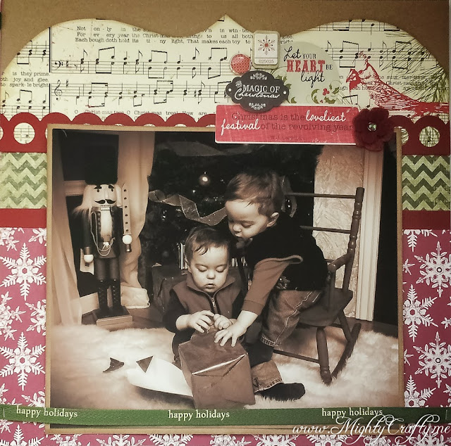 Christmas Layout with My December Kit -- www.MightyCrafty.me
