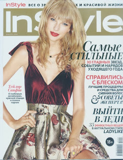 Magazine Cover : Taylor Swift Magazine Photoshoot Pics on InStyle Magazine Russia January 2014 Issue