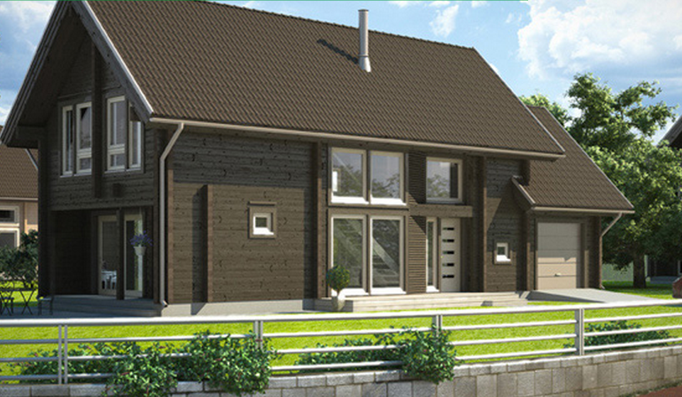 Beautiful wooden house full of windows timber frame houses for House full of windows
