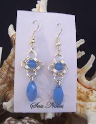 Swarovski Blue Opal Drops