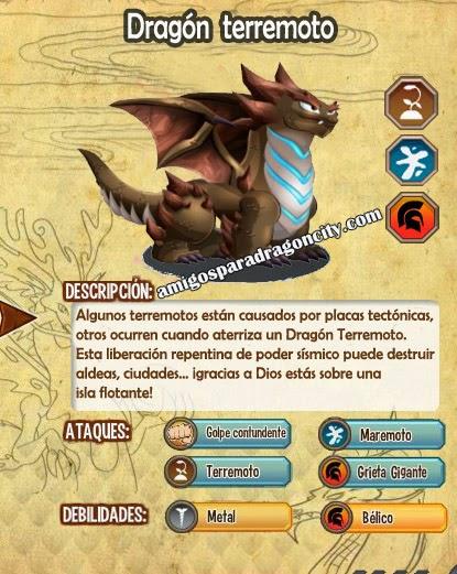 imagen de las caracteristicas del dragon terremoto