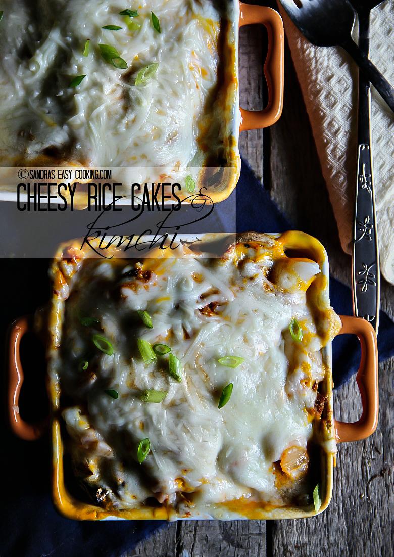 Cheesy Rice Cakes and Kimchi