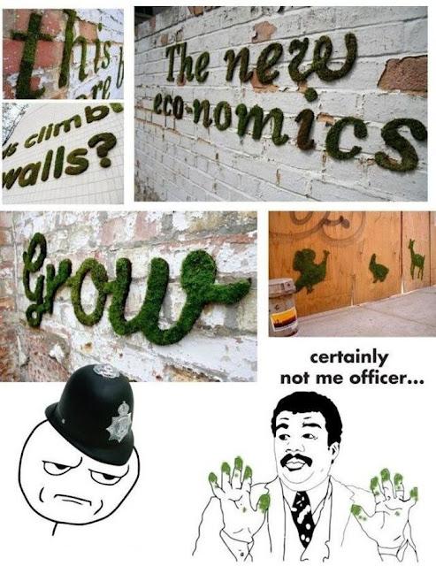 musgo, graffiti ecológico, arte