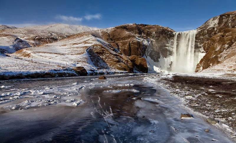Skogafoss waterfall   The largest and most beautiful waterfall of Iceland