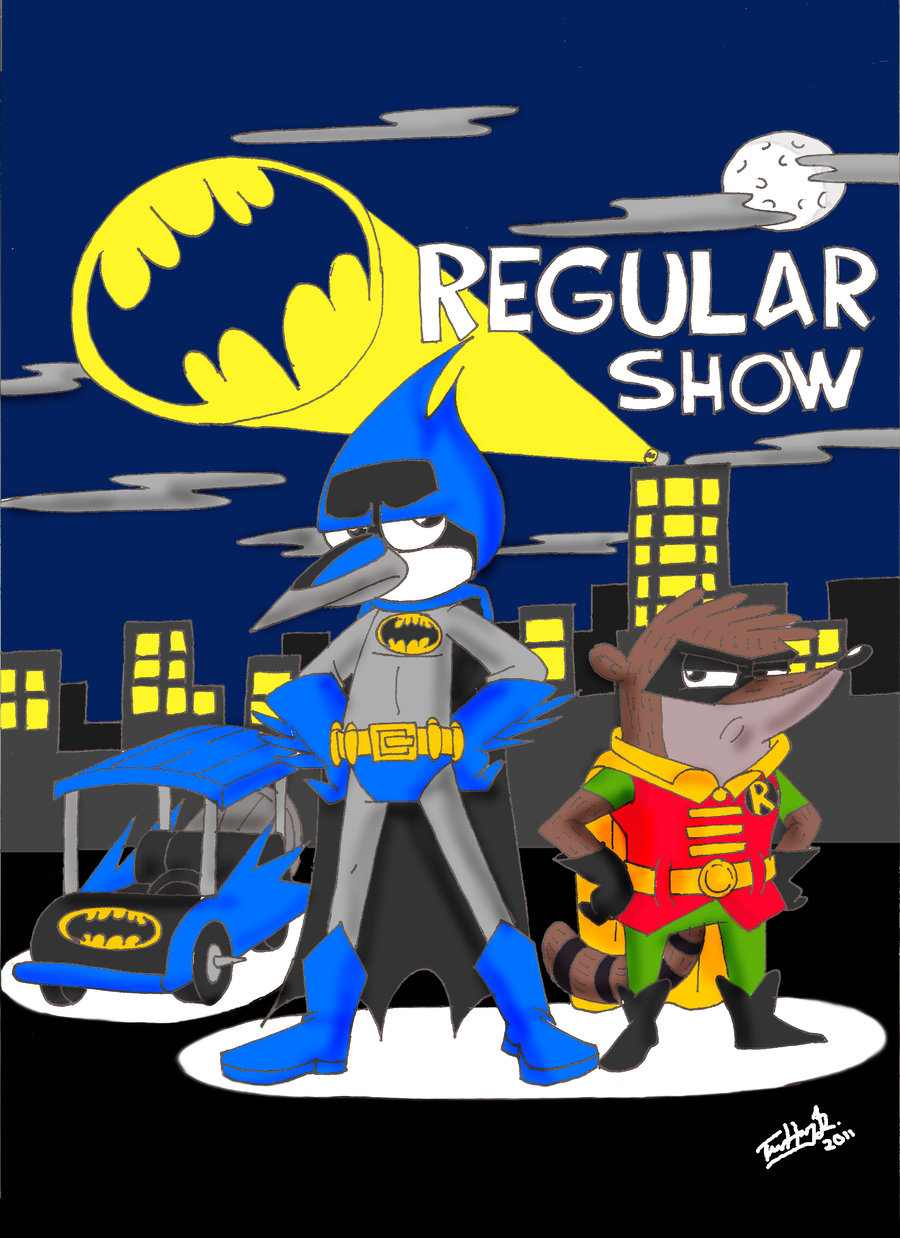 Regular Show- Batman Crossover por koude123