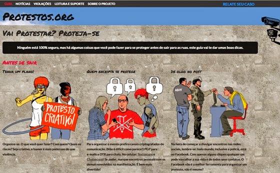 Site criado pelo Centro de Tecnologia e Sociedade (CTS) da FGV-Rio e pela ONG Artigo 19 dá dicas do que fazer para se proteger antes de sair para as ruas