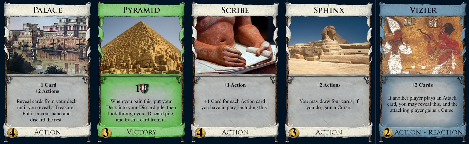 Palace, Pyramid, Scribe, Sphinx, & Vizier