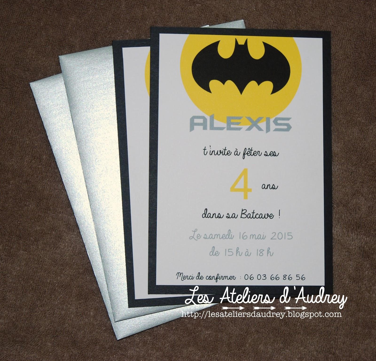 The audrey workshops ateliers vente de produits scrap - Deco pour anniversaire batman ...