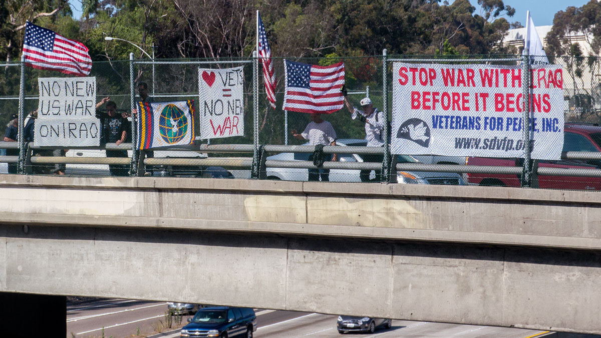 San Diego Veterans For Peace - No New War on Iraq!