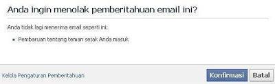 cara berhenti berlangganan email dari facebook