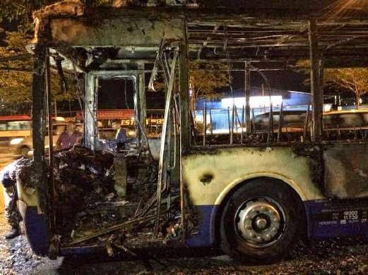 CEMAS Bas Rapid KL Terbakar 30 Hampir Maut
