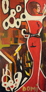 artiste peintre montpellier - Femme Rouge