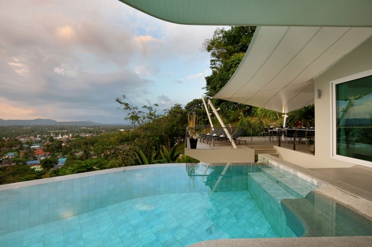 View from the pool in Modern Villa Beyond in Phuket