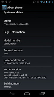 Soak test: Verizon Wireless Samsung Galaxy Nexus Ice Cream Sandwich update, May 2012.