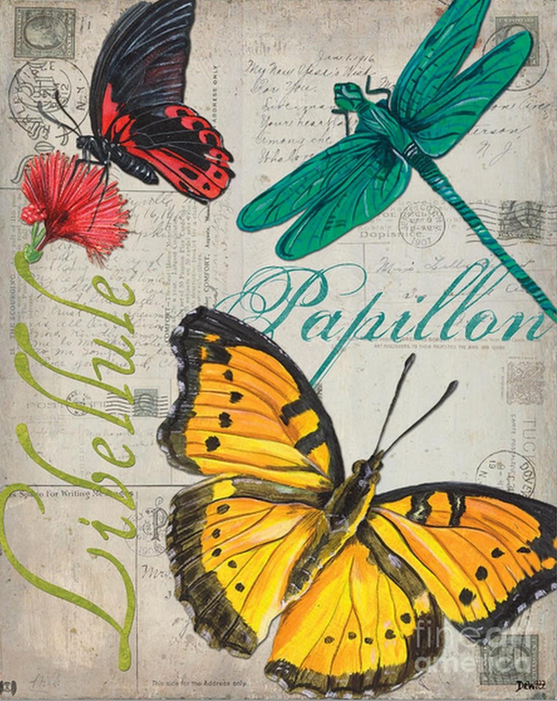 Cuadros de Mariposas Modernas, Arte Figurativo con Mucho Color ...