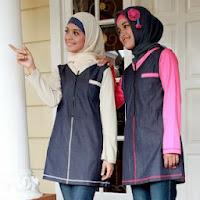 Busana muslim lebaran 2014 remaja bahan jeans