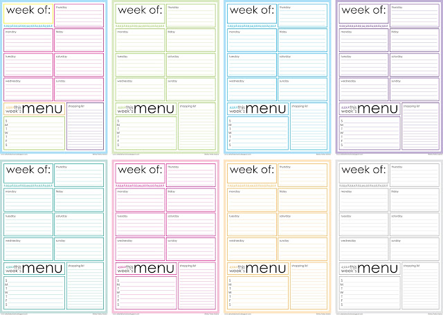 All The Pages Are The Same Layout, But I Thought It Would Be Fun To Switch  Up The Colors {for Myself, Anyway} And Make Each Week Something Different  To Look ...