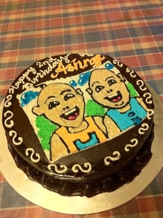 Maria Homemade Cake: Upin N Ipin Chocolate Cake
