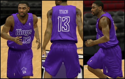 NBA 2K13 Sacramento Kings Christmas Jersey