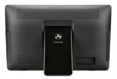 задняя сторона моноблока Gateway One ZX 4270