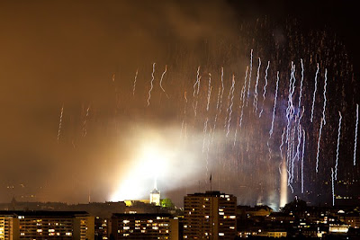 fireworks over Geneva