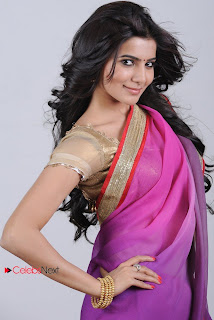 Samantha Latest Picture Shoot Gallery in Pink Saree 0002