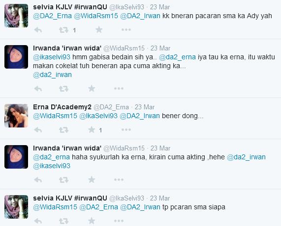 Ena Pun menjawab bahwa dia telah pacaran dengan Ady.