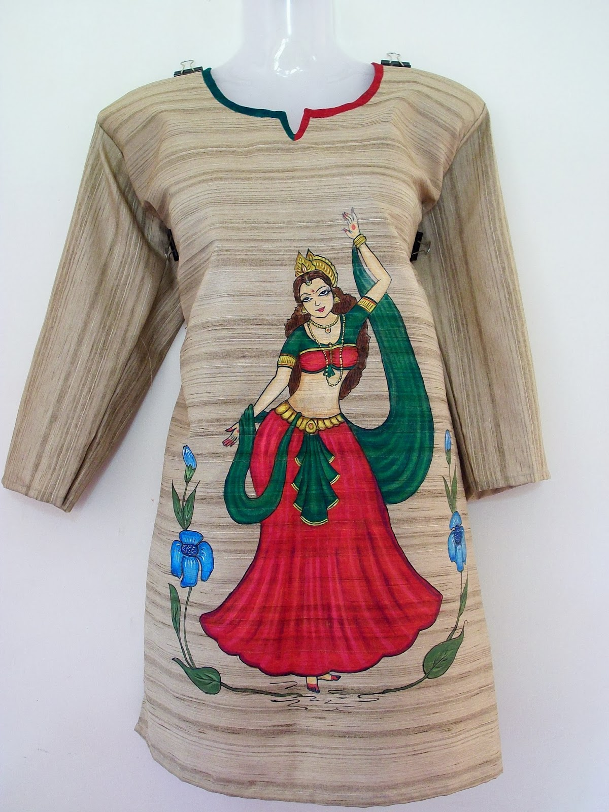 Veda collections ladies kurthis for Asha mural painting