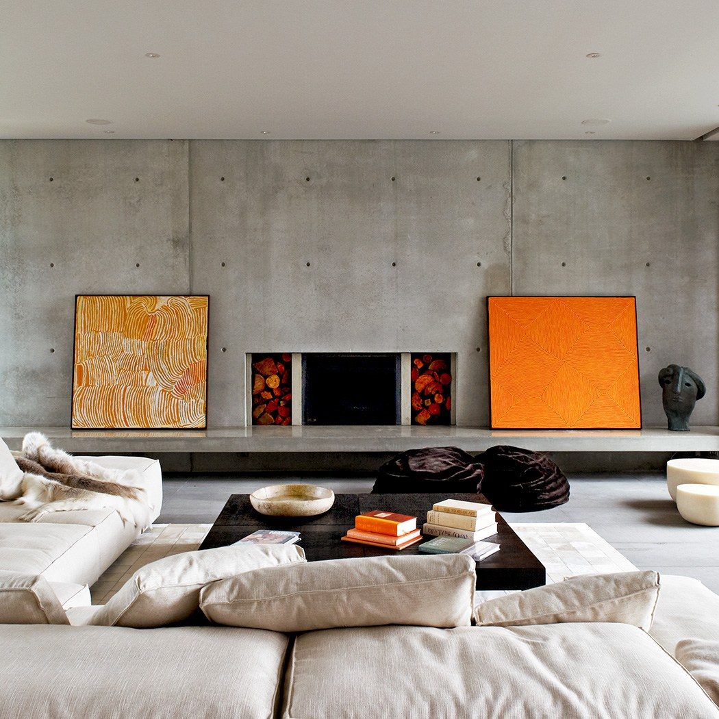 Concrete Walls, Sorrento House by Robert Mills Architects and Interior Designers