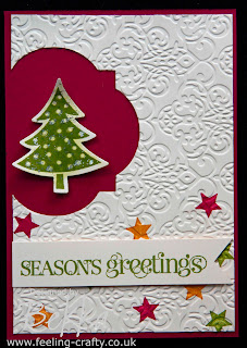 Cute, quick and postage friendly Christmas Card by Bekka www.feeling-crafty.co.uk