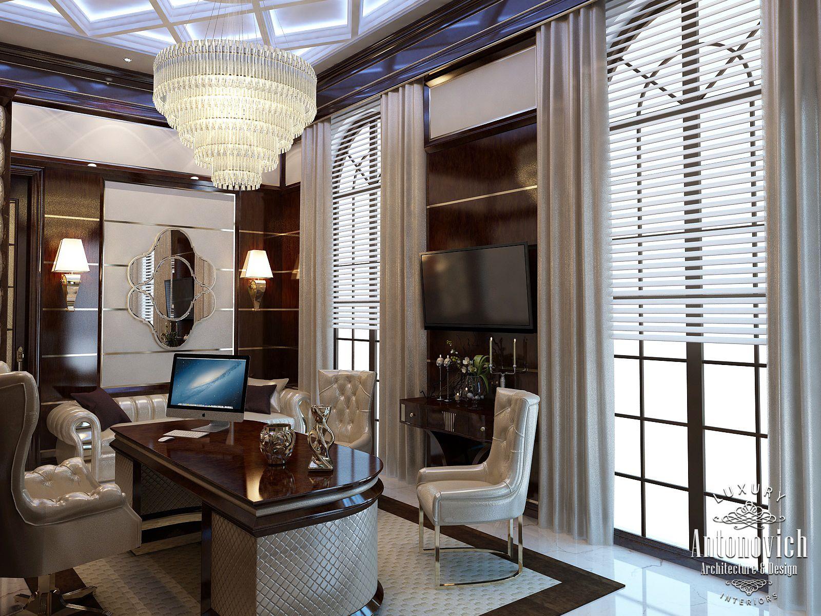 Luxury antonovich design uae office interior from luxury for Office design uae