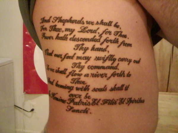 Тексты молитвы для татуировок