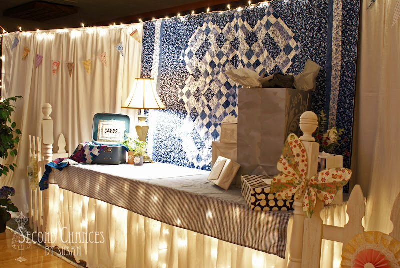 Garden Wedding Gift Table Ideas A corner of the gym was
